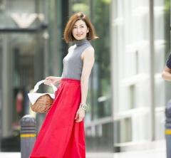 キレイ色スカートが主役!真夏の40代SNAP・july①
