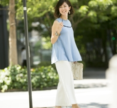 淡色ブルーで好印象スタイル!真夏の40代SNAP・july②