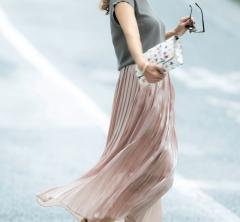 Aライン「ピンクスカート」で上品な女らしさが叶う