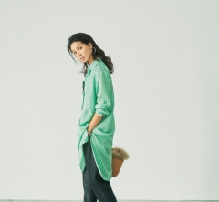 9/18 Mon.  ZARAのロングシャツ×レザーパンツなら、高見せお出かけ仕様に