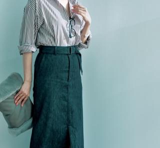10/24 Tue. インしやすいストライプシャツで今どきロングスカートを攻略