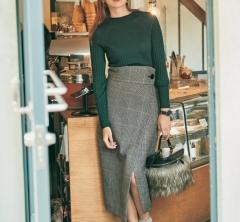 11/17 Fri. クラシックなスカートで週末に向けて女らしさを強調