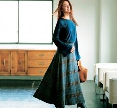 11/25 Sat.シンプルなデザイン性トップスでトレンドスカートを攻略