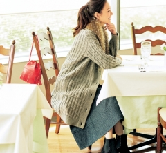 12/3 Sun. ママ友ランチは「カーディガン+スカート」の好印象コーデで
