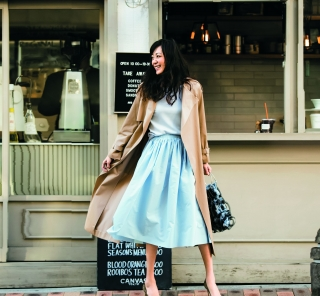 3/25 Sun. 【トレンチコート】と春色スカートで気分を上げて春物を買いに!