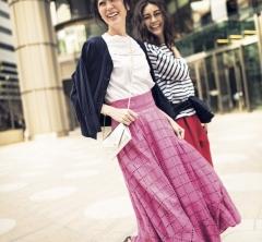 5/26 Sat. 【ピンクスカート】はTシャツ合わせで大人フェミニンにキマる!