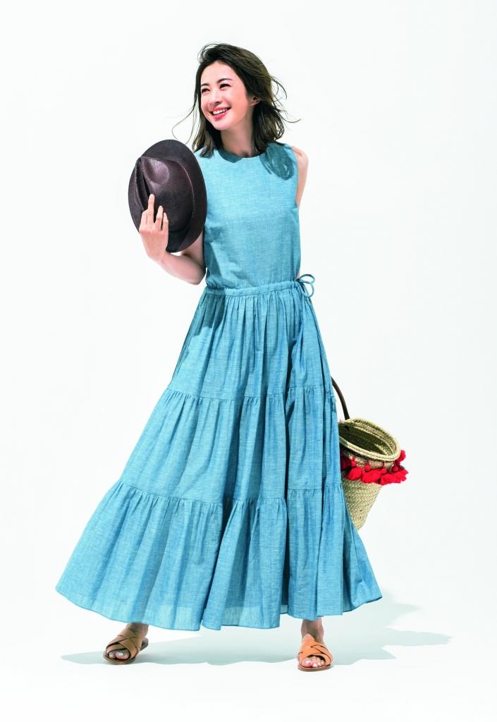 【Aライン】ワンピースコーデ12選 甘デザインも爽やかブルーならヘルシーに着られる