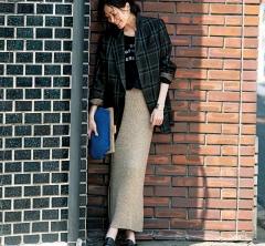 【ビッグジャケット+マキシタイトスカート】で最旬のロング&リーンスタイルに![11/21 Wed.]