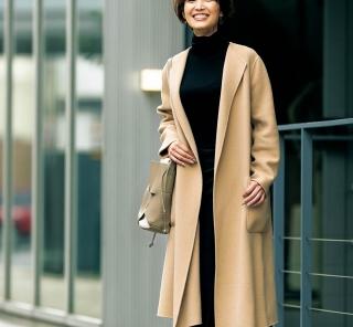 【街のオシャレ40代SNAP!January②】ボリュームスカートをすっきり通勤仕様に