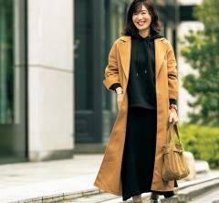 【街のオシャレ40代SNAP!February⑦】ロエベのコートはあえてのパーカでカジュアルに