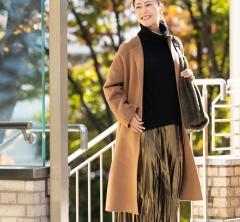 【街のオシャレ40代SNAP!January 10th】メタリックカラースカートは40代の強い味方!