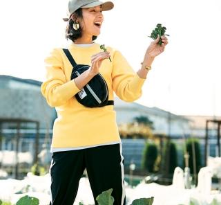 【アスレジャー】な着こなしに挑戦。今日はレンタル農園で栽培した野菜の収穫Day[3/21 Thu.]