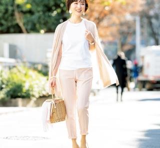 【街のオシャレ40代SNAP!April⑨】春らしいピンクコーデをプチプラで