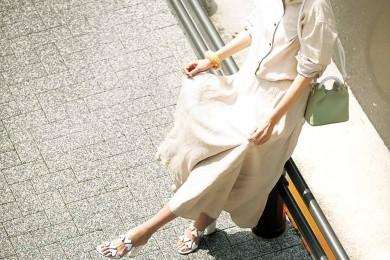 夏の日差しに映える【PVC】サンダルで買い物にお出かけ♪[6/12 Wed.]