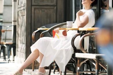 一人カフェ時間には【クリアサンダル】で夏気分を先取り♪[6/7 Fri.]