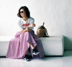 ママ友とランチ後ぶらぶらお散歩したいからスニーカーファッション[6/26 Wed.]
