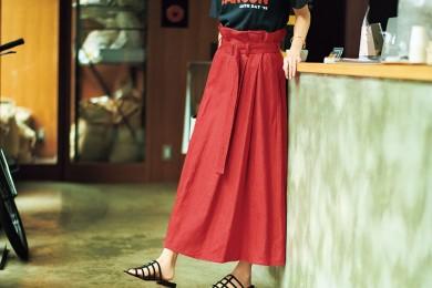 【腰位置が高く、お腹周りすっきりのスカート】なら、自信を持ってお出かけできます![6/23 Sun.]