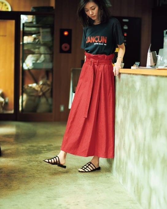 6bce7b257cda45 【腰位置が高く、お腹周りすっきりのスカート】なら、自信を持ってお出かけできます![6/23 Sun.]