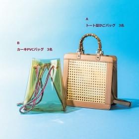 「かごバッグ」「PVCバッグ」を計6名様にプレゼント!