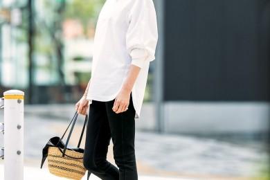 【街のオシャレ40代SNAP!July24th】ロング丈トップス×細身デニムが最旬バランス