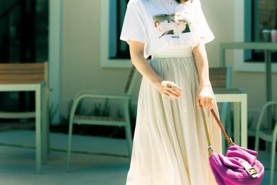 【街のオシャレ40代SNAP!August③】プリントTでTシャツでも大人可愛くできます