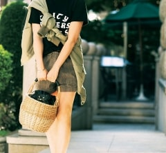 【街のオシャレ40代SNAP!July31th】大人がショーパンを穿くときはメンズっぽさのスパイスを