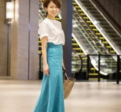 【街のオシャレ40代SNAP!July27th】最新注目ブランドの夏映えスカートを主役に