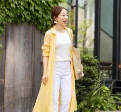 【街のオシャレ40代SNAP!June⑪】大人カジュアルを格上げしてくれるシャツドレス