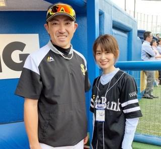 武藤京子ブログ「ソフトバンクホークス試合前練習を見学させて頂きました」