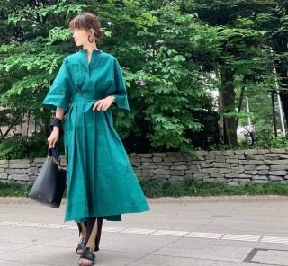 武藤京子ブログ「気分が上がる グリーンのワンピースの 6月20日のお洋服」