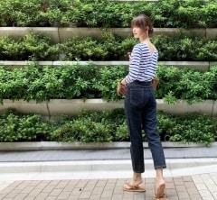 武藤京子ブログ「背中の開きがいい感じのカットソーと キャメル小物」