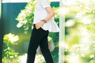 今日は、シンプルな【モノトーンコーデ】がしっくりくる一日[8/15 Thu.]