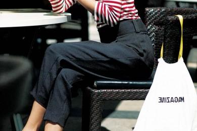 【黒パンツ1週間コーデ⑤】ボーダー×黒パンツ定番スタイルでお出かけへ♪[8/9 Fri.]