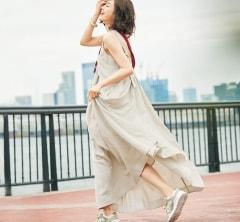楽ちんキレイな【夏ワンピース】のベージュコーデなら見た目の暑さも和らぐ[8/14 Wed.]