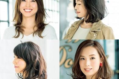 小顔に見える髪型14選【40代の毎日ヘアスタイル】