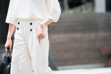 【街のオシャレ40代SNAP!August24th】白ワントーンはプチプラなら簡単!