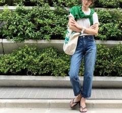 武藤京子ブログ「@upper heightsのデニムを 段ボールから出してそのまま穿いてお出かけ」