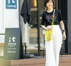 【街のオシャレ40代SNAP!September12th】ロックTにきれいめワイドが似合うことを発見!