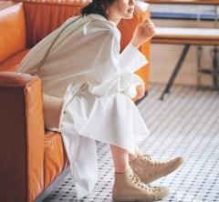 のんびりした土曜の朝は【リラックスワンピ】で近所のカフェにブランチへ[10/12 Sat.]