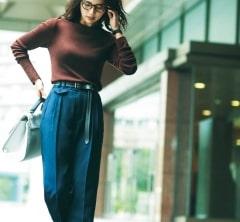 【ミラ オーウェン】の高見えニットで颯爽とお仕事へ![11/12 Tue.]