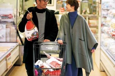 イブの今日はダンナと合流してクリパ用の買い出しへ。【ポンチョコート】ならご近所でも映える![12/24 Tue.]