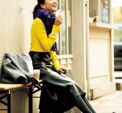 最近のSAはおしゃれな店が多い!実家に帰省ファッションはきれい色ニットで[12/31Tue.]