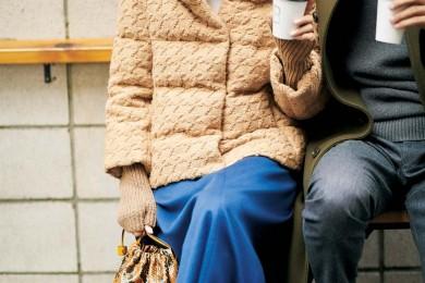 寒さ対策ばっちり【ショートダウン】で旦那さんとご近所のカフェまで[12/14 Sat.]