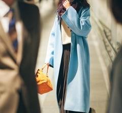 今年最後の同窓会はきれい色コートを主役に[12/30Mon.]