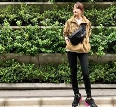 武藤京子ブログ「夏の暑い時期に 買っていた フリースジャケットで コーディネート」
