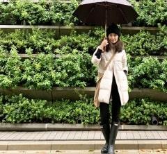 武藤京子ブログ「肌寒い日は @nano・universeの西川ダウンでお出かけ」