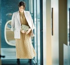 お仕事後の新年会はオンオフ対応きれいめ【ドットワンピース】で![1/9 Thu.]