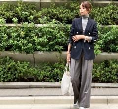 武藤京子ブログ「NAVY×GRAY×WHITE でコーディネートした 先日のお洋服」