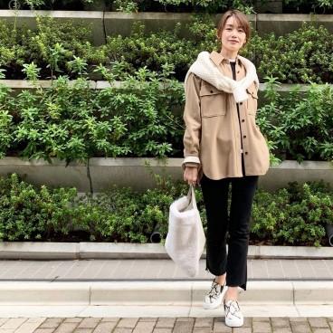 武藤京子ブログ「ストールのかわりに ニット巻きの 先日のお洋服」
