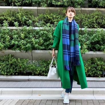 武藤京子ブログ「お気に入りの @LE PHIL のグリーンのコート」